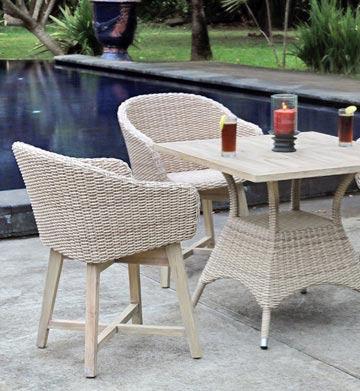 Wholesale Outdoor Furniture Australia Venice Wicker And Teak White Wash