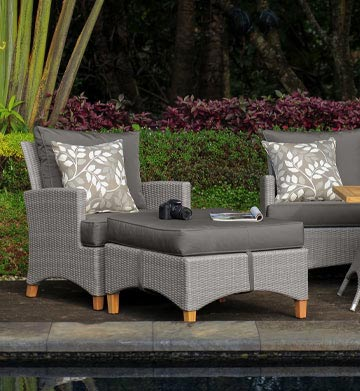 Wholesale Outdoor Furniture Australia Venice Grey Wicker Teak White